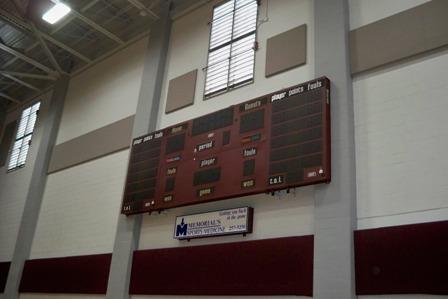 Scoreboard in Main Gym
