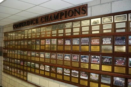 Conference Champion Recognition Wall