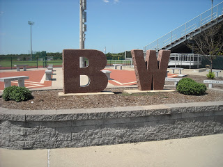 Football field entrance