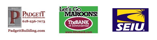 Turf Sponsors Padgett Building The Bank of Edwardsville SEIU