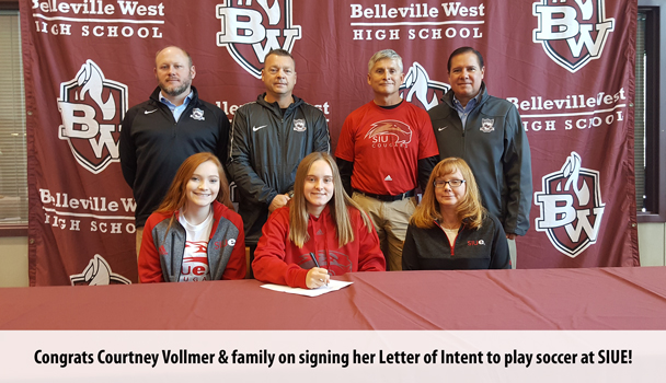 College Signing Courtney Vollmer