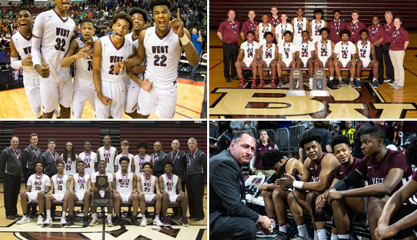 Boys Basketball 2018 and 2019 State Champion Photo Collage