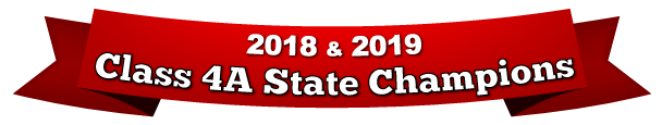 2018 and 2019 State Champions Banner